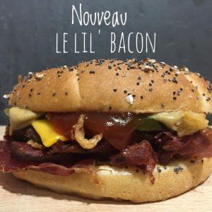"""Le Burger du Mois : """"Le Lil' Bacon"""" Livraison de nuit à Orléans"""